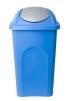 Koš plastový výklopný 60 L stříbrno modrý