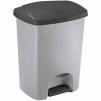 Odpadkový koš Click Curver 25L stříbrný