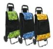 Nákupní taška na kolečkách 30L květy