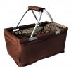 Košík nákupní skládací hnědý 29L