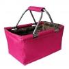 Košík nákupní skládací růžový 29L