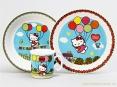 """Dětská jídelní sada 3 ks """"Hello Kitty"""", dárkové balení"""