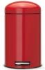 Pedálový koš Retro Bin Silent 12L zářivě červená